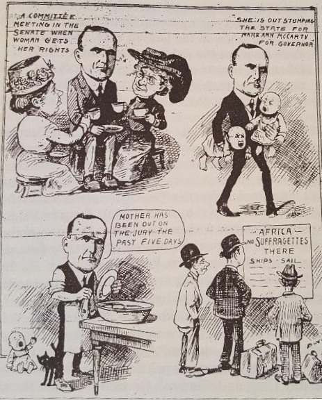 Bee Cartoon on Suffrage - 2-9-11