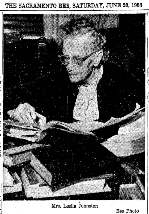 Johnston at 92 - Bee - 6-20-1953