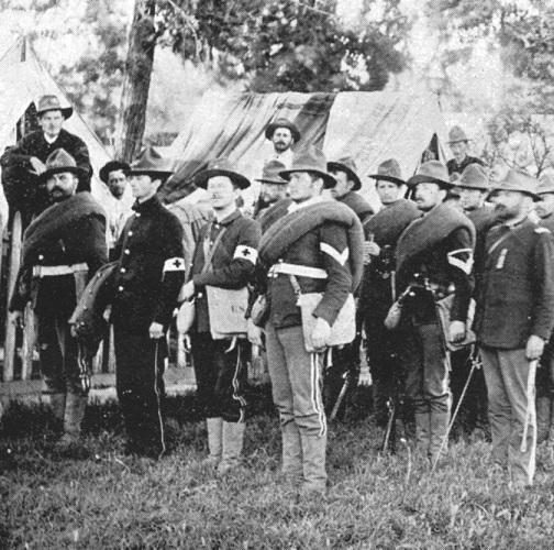 California_National_Guardsmen in Capitol Park